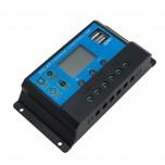 کنترلر شارژ پنل های خورشیدی 30A با صفحه نمایش و خروجی USB