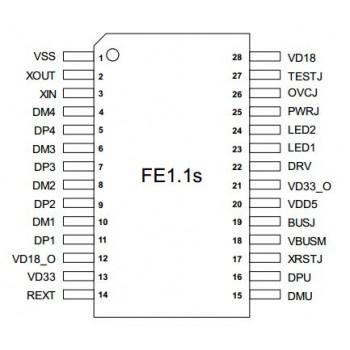 آی سی کنترلر هاب 4 پورت FE1.1S دارای پکیج SSOP28