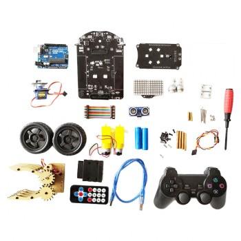 کیت ربات آردوینو UNO مجهز به گریپر ، سنسور تشخیص مانع و فاصله با قابلیت کنترل ریموت