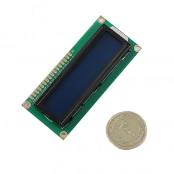 نمایشگر LCD کاراکتری 1602 دارای رنگ زمینه آبی و ولتاژ کاری 5 ولت