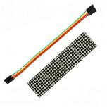 ماژول صفحه نمایش LED ماتریسی 8X32 تک رنگ دارای چیپ درایور MAX7219