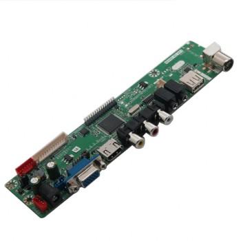 برد درایور LCD چند کاره HCJ-V.TV9 دارای سوکت خروجی LVDS