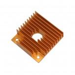 هیت سینک آلومینیومی اکسترودر پرینتر سه بعدی دارای ابعاد 40mm x 40mm
