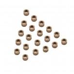 بسته 20 تایی مهره برنجی آج دار M3 مناسب برای نصب روی قطعات پلاستیکی