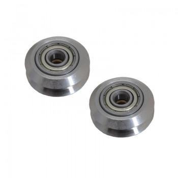 بسته 2 تایی چرخ هرزگرد Dual V دو بلبرینگ 625ZZ مناسب برای مصارف فنی و رباتیک