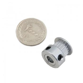 پولی 20 دندانه GT2 مخصوص پرینتر سه بعدی شفت 6.35 میلیمتری