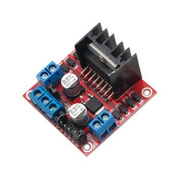 ماژول موتور درایور دو کاناله L298N با قابلیت درایو موتور پله ای ( stepper ) و DC
