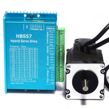 استپر موتور 4 آمپر 57HSE2 به همراه درایور سروو موتور HBS57