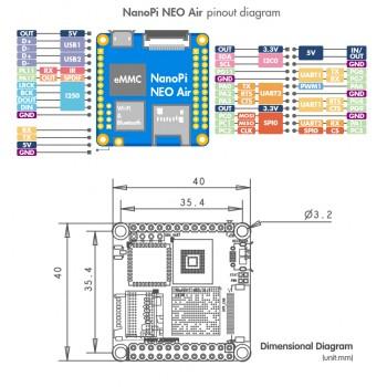 برد چهار هسته ای NanoPi NEO Air دارای 512MB RAM ، وایفای و بلوتوث