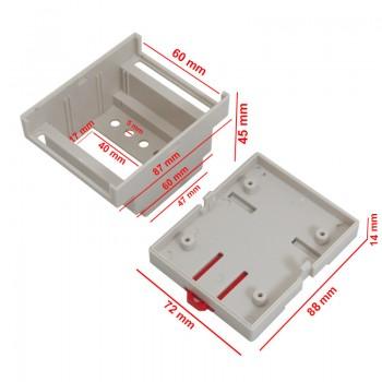 باکس پلاستیکی دستگاه ایزولاتور دارای ابعاد 88mm x 72mm x 59mm