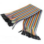 بسته 20 تایی سیم bread board مادگی به مادگی 30 سانتی متری ( Dupont Wire )