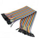 بسته 20 تایی سیم bread board مادگی به مادگی 40 سانتی متری ( Dupont Wire )