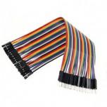 بسته 20 تایی سیم bread board نری به مادگی 40 سانتی متری ( Dupont Wire )