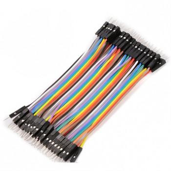 بسته 20 تایی سیم bread board نری به نری 15 سانتی متری ( Dupont Wire )