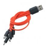 کابل شارژر 25 سانتی متری دارای چهار پورت میکرو USB