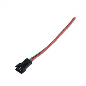 کانکتور SM سه پین دارای کانکتور نری - مناسب برای LED های رشته ای و انتقال توان