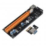 رایزر کارت گرافیک  PCI-E 1X به 16X دارای کابل رابط USB3.0 و سوکت پاور