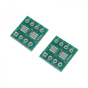 بسته 2 تایی برد دو لایه تبدیل SOP8 / SSOP8 / TSSOP8 به DIP8