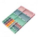 باکس پلاستیکی درب دار مناسب برای نگه داری قطعات الکترونیکی دارای ابعاد 22mmX63mmX75mm