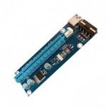 رایزر کارت گرافیک Mini  PCIE به PCIE دارای کابل رابط USB3.0 و سوکت پاور 4 پین