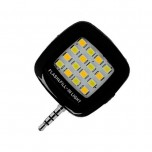 فلش LED سلفی موبایل دارای سوکت 3.5mm و قابلیت تنظیم شدت نور