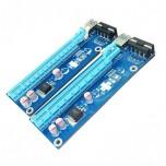 رایزر کارت گرافیک PCIE 1X به PCIE 16X دارای کابل رابط USB3.0 و سوکت پاور 4 پین