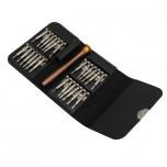 ست پیچ گوشتی 25 قطعه حرفه ای مناسب برای تعمیر ساعت و موبایل