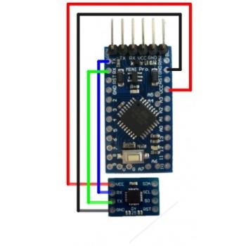 ماژول ژیروسکوپ سه محوره MPU6050 دارای فیلتر کالمن و خروجی سریال