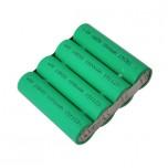 پک چهارتایی باتری لیتیوم یون 7200mAh 3.7V سایز 18650