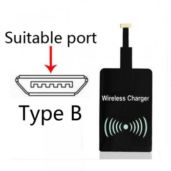 گیرنده شارژر القایی 5 ولت Qi دارای ارتباط میکرو USB ( جهت منفی )