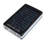 کیت پاور بانک خورشیدی دارای دو خروجی 5V USB و پنل LED