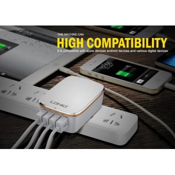 آداپتور و شارژر 5 ولت 4.4 آمپر دیواری دارای چهار خروجی USB