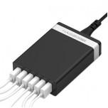 آداپتور و شارژر 5 ولت 8 آمپر دیواری دارای پنج خروجی USB محصول Hagibis