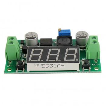 ماژول رگولاتور DC به DC کاهنده 3 آمپر دارای نمایشگر و قابلیت تنظیم ولتاژ خروجی