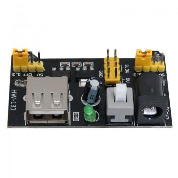 ماژول منبع تغذیه بردبوردی AMS1117 دارای ورودی جک آداپتوری / USB