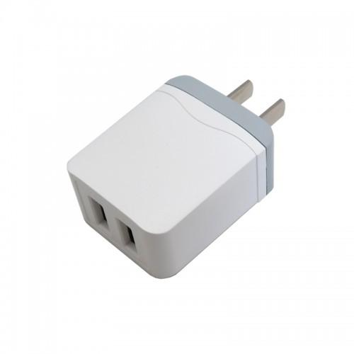 آداپتور و شارژر 5 ولت 2.1 آمپر دیواری دارای دو خروجی USB