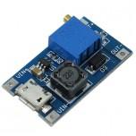 ماژول رگولاتور DC به DC افزاینده 2 آمپر دارای ورودی میکرو USB و قابلیت تنظیم ولتاژ خروجی