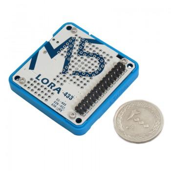 شیلد ترنسیور وایرلس LORA-RA02 دارای فرکانس 433MHz سازگار با برد توسعه M5Stack