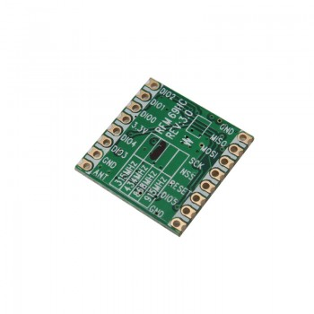 ماژول فرستنده وایرلس RFM69HC با فرکانس433MHZ