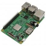 برد چهار هسته ای 64 بیتی رزبری پای 3 مدل B دارای 1GB RAM ، وایفای و بلوتوث داخلی
