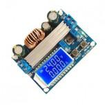 ماژول رگولاتور DC به DC کاهنده / افزاینده 4 آمپر با قابلیت نمایش و تنظیم ولتاژ و جریان خروجی