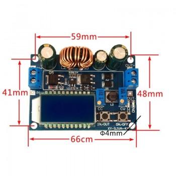 ماژول رگولاتور DC به DC کاهنده 4 آمپر با قابلیت نمایش و تنظیم ولتاژ و جریان خروجی