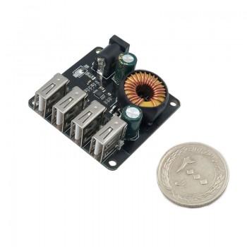 ماژول رگولاتور DC به DC کاهنده داری چهار خروجی 4A 5V USB
