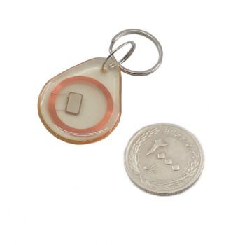 تگ RFID سر کلیدی شفاف ضد آب دارای فرکانس IC key ) 13.56MHz )