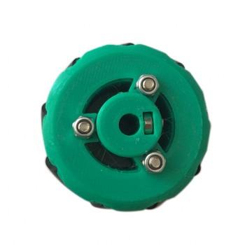 چرخ مکانوم ( Mecanum ) دارای قطر 44 میلی متر با قابلیت حرکت در تمام جهات