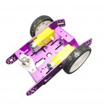 شاسی ربات 2 موتوره آلومینیومی به همراه موتور گیربکس دار و چرخ ( رنگ قرمز )