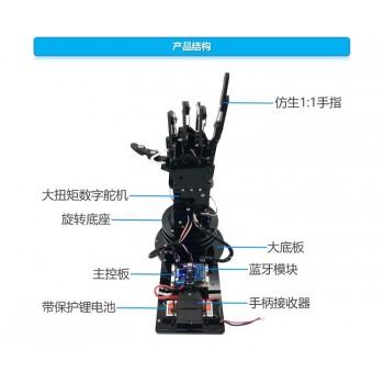 کیت ربات بیونیک دست راست پنج انگشتی با قابلیت کنترل از طریق دسته جوی استیک