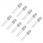LED شیشه ای 5 میلیمتری سفید بسته 10 تایی