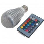 لامپ RGB LED مولتی کالر 9 وات همراه با ریموت کنترل