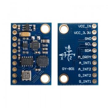 ماژول IMU نه محوره L3G4200D + ADXL345 + HMC5883L به همراه سنسور فشار BMP180